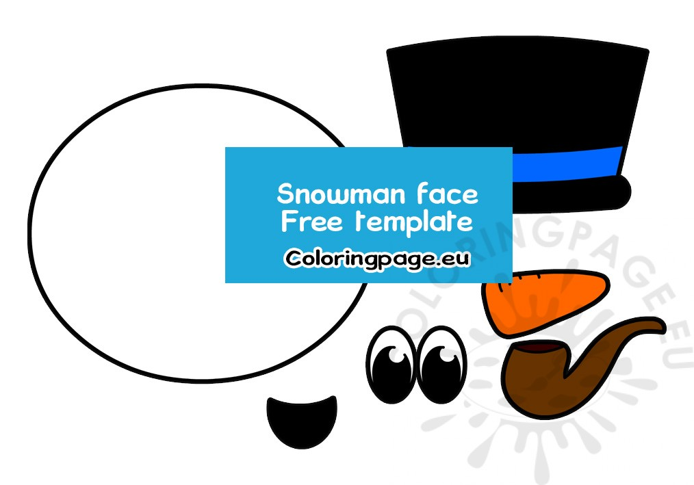 It is a graphic of Printable Snowman Face for olaf