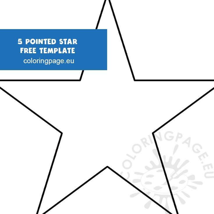 It's just an image of Star Stencil Printable with large