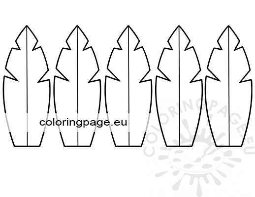 Turkey Feathers Template Coloring Page