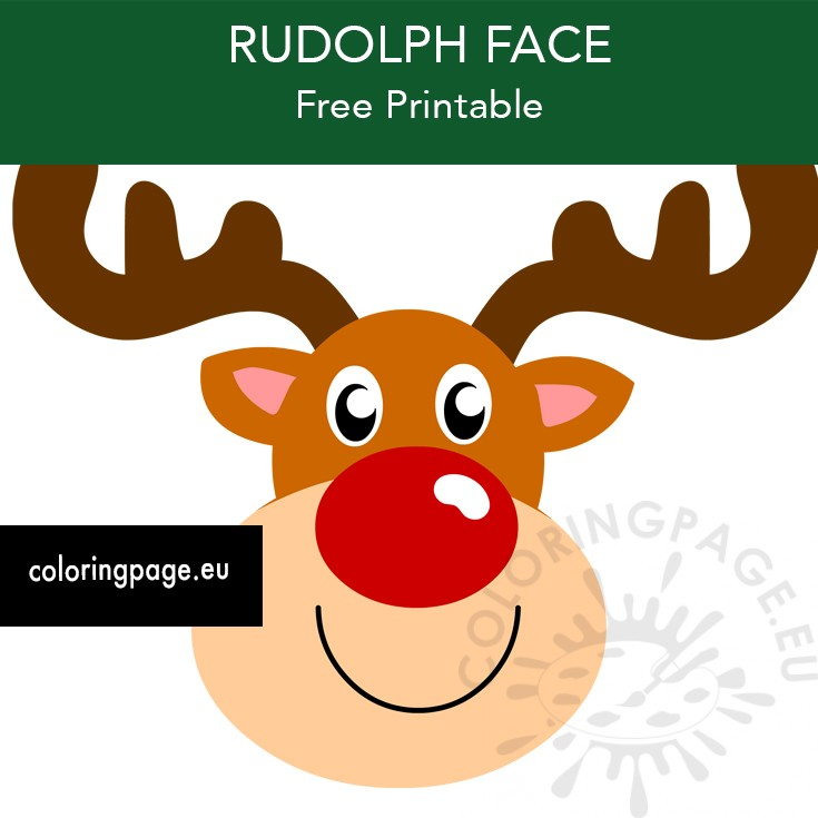 View Rudolph Face Coloring Pages Gif Coloring Pages Online