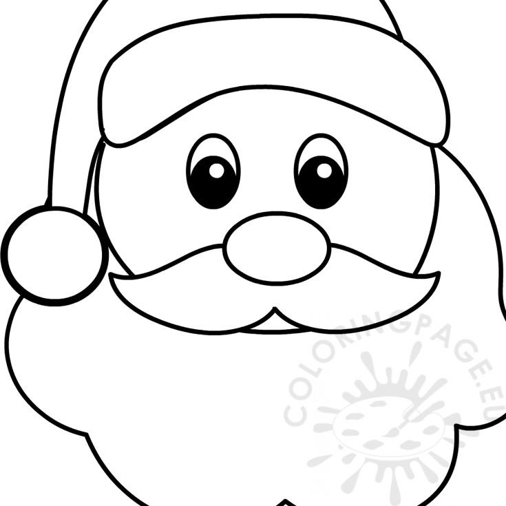 Christmas Santa Face coloring page – Coloring Page