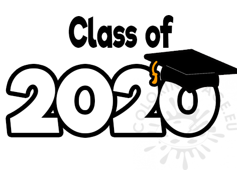 Free Class Of 2020 Graduation – Coloring Page