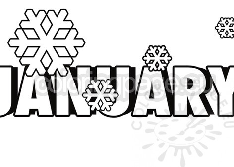17 Trendy Coloring Pages January That Wow