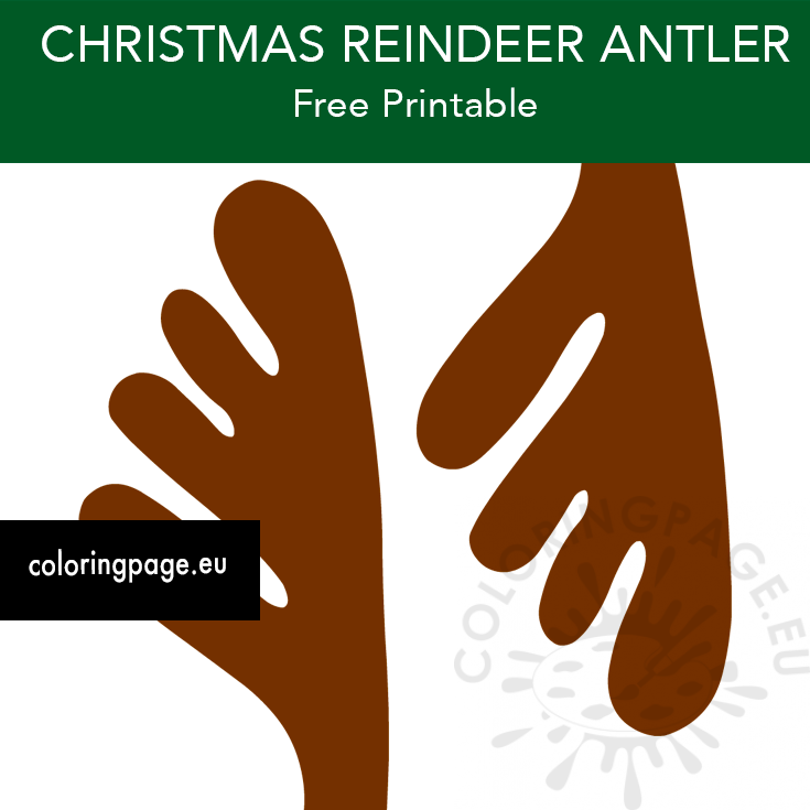 It is a picture of Printable Reindeer Antler regarding pin the nose on reindeer game