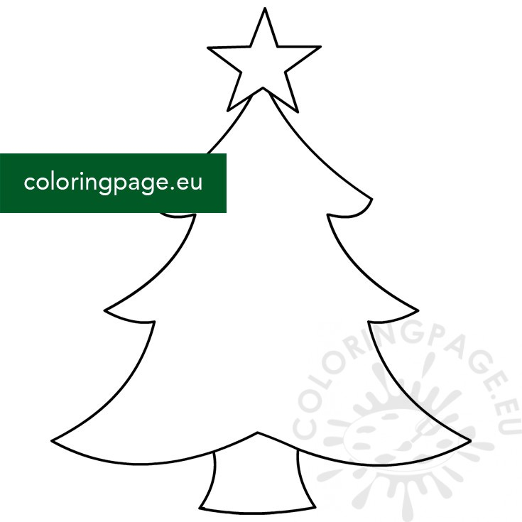 Christmas tree with star shape - Coloring Page