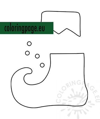 It is an image of Elf Shoe Pattern Printable in blank