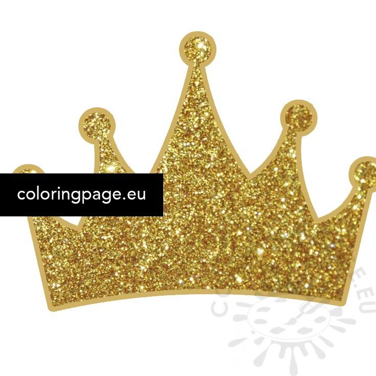 princess gold glitter crown free  u2013 coloring page