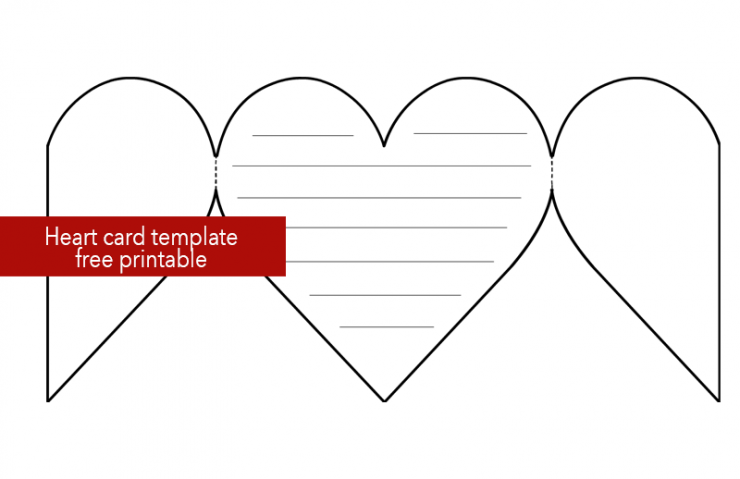 Printable Heart Card Template Coloring Page