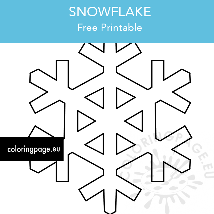 It is a picture of Printable Snowflake Stencils regarding outline