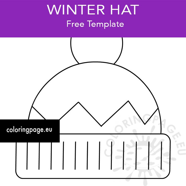 Printable Winter Hat Coloring Page Coloring Page
