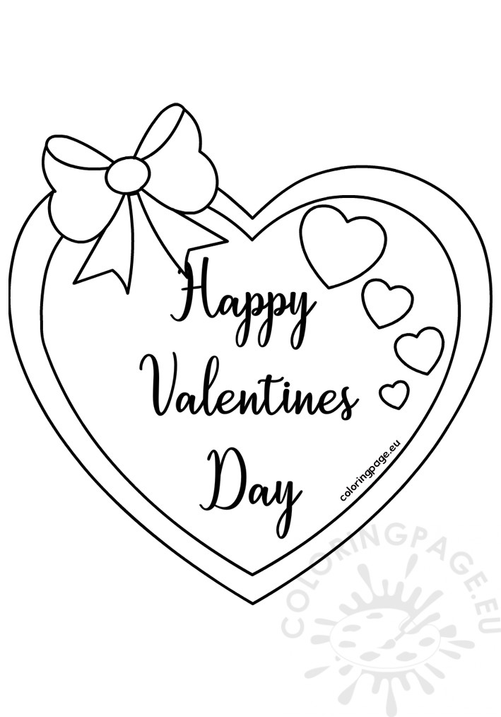 Printable Valentines Day Coloring Card – Coloring Page