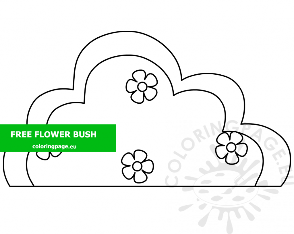 Flower Bush With Flowers Printable