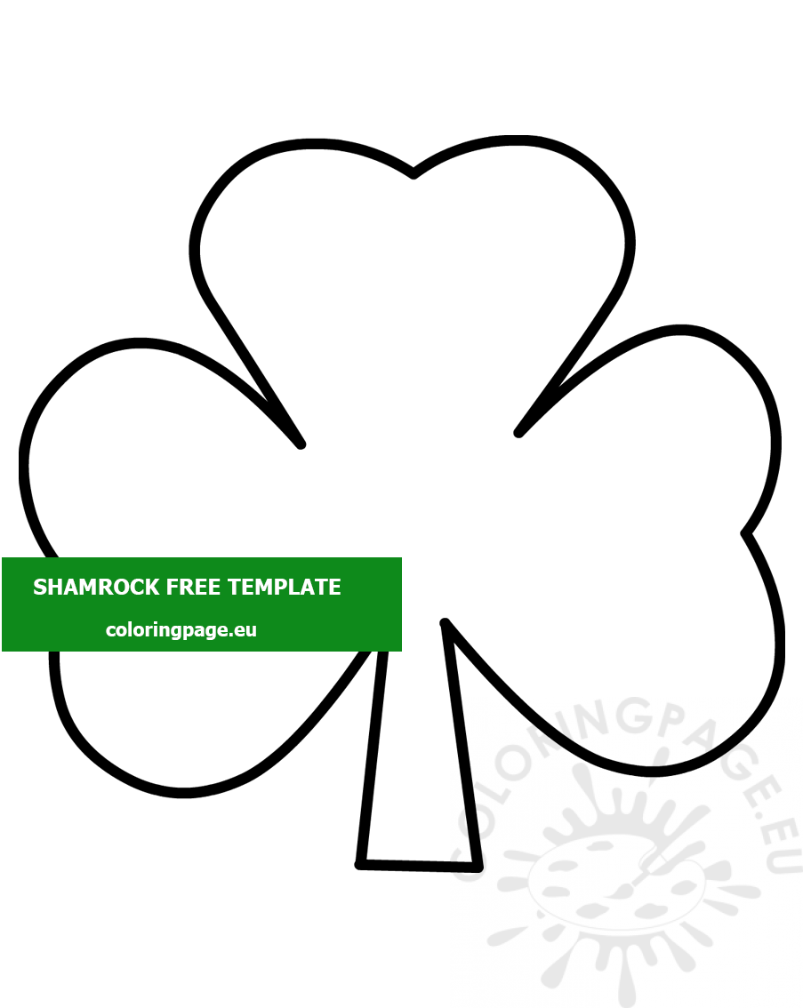 - St. Patrick's Day Shamrock Template – Coloring Page
