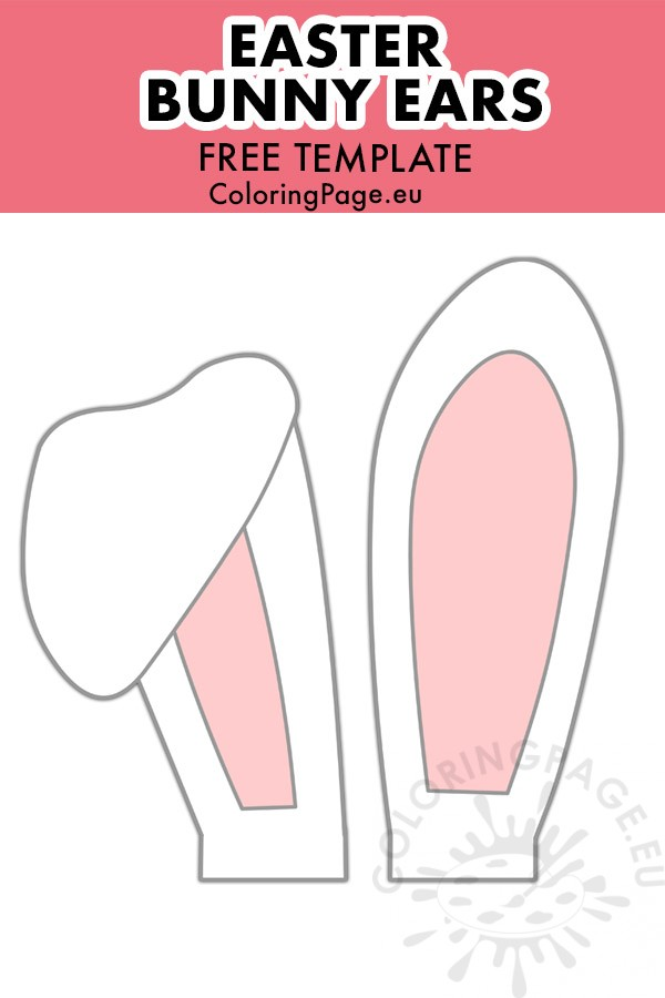 Bunny ears template coloring page | Easter bunny ears template ... | 900x600