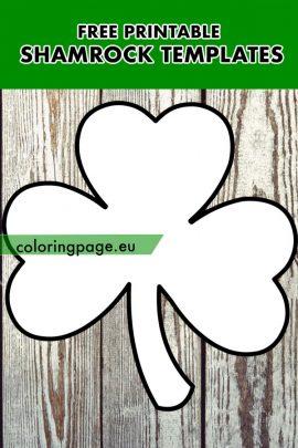 free printable shamrock templates  coloring page