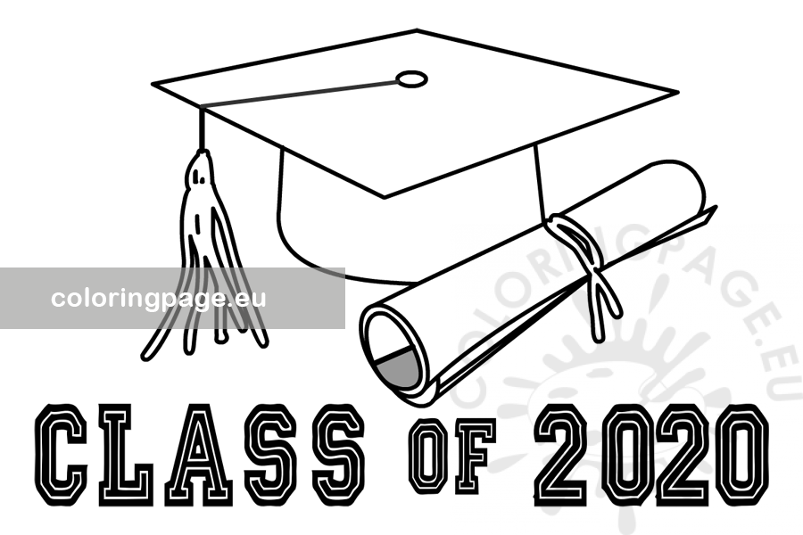 Free Printable Class Of 2020 Graduation Coloring Page