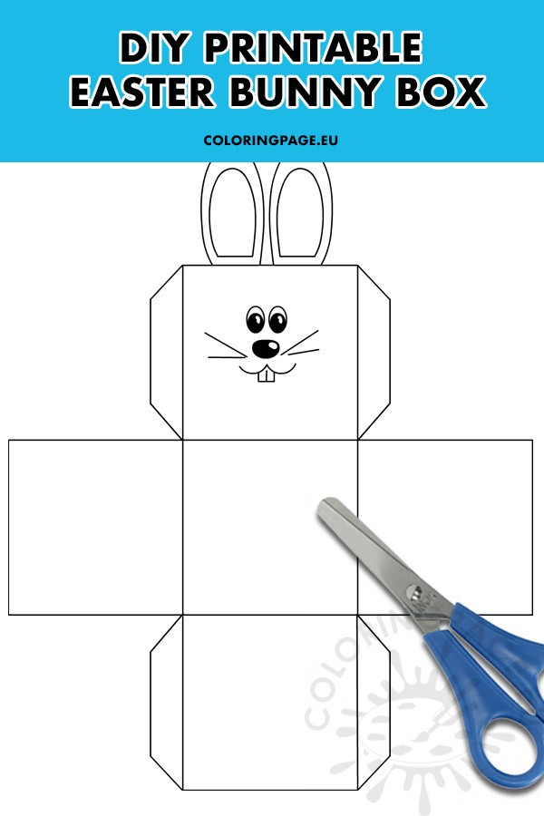 Diy Easter Bunny Box Printable Coloring Page