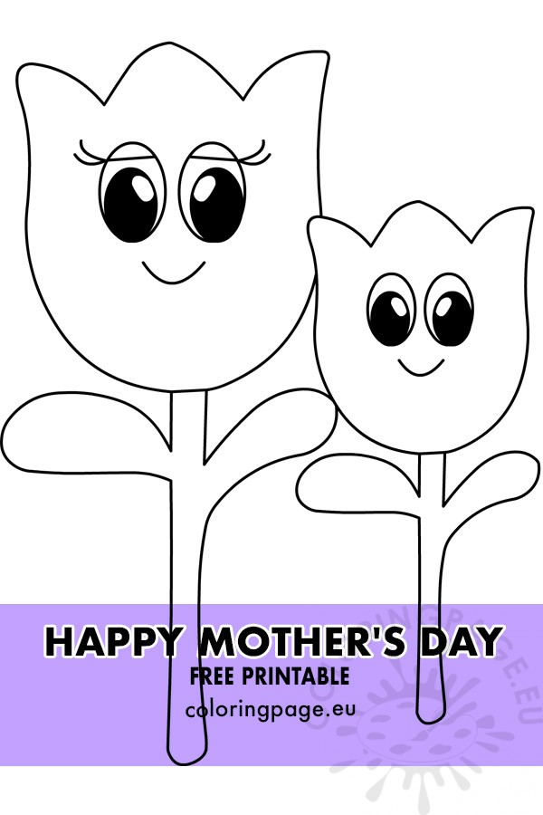 Tulip Coloring Pages | Spring coloring pages, Flower coloring ... | 900x600