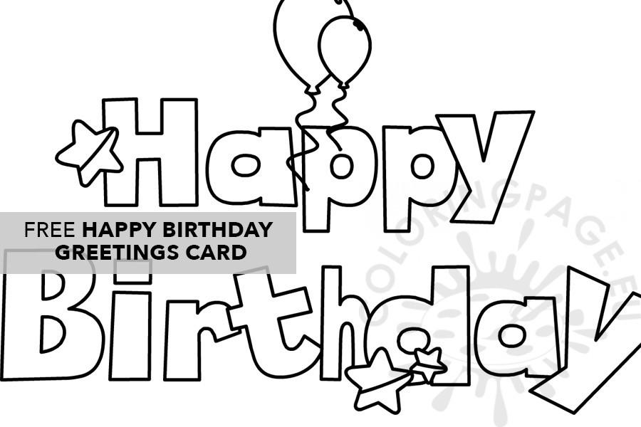 Happy Birthday Coloring Page Printable Coloring Page