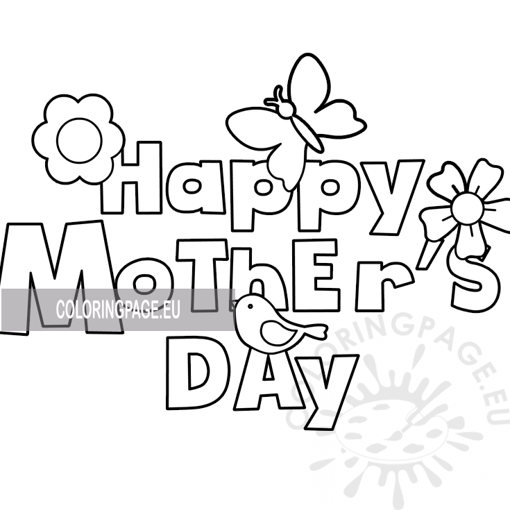 It is a graphic of Printable Coloring Mothers Day Cards inside spanish