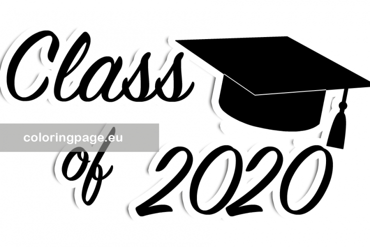 Class of 2020 Graduation vector - Coloring Page