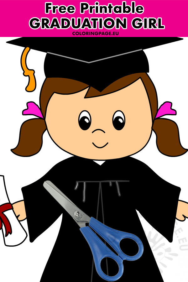 Cute girl in cap and gown graduate