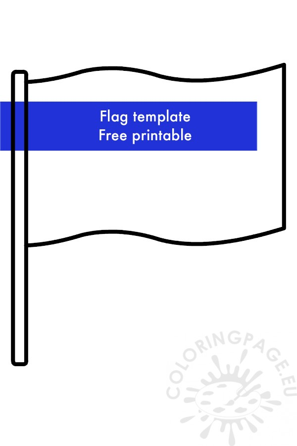 Simple Blank Flag Template Coloring Page