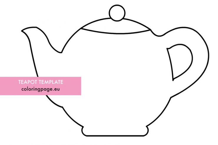Teapot Coloring Page - Coloring Home   493x740