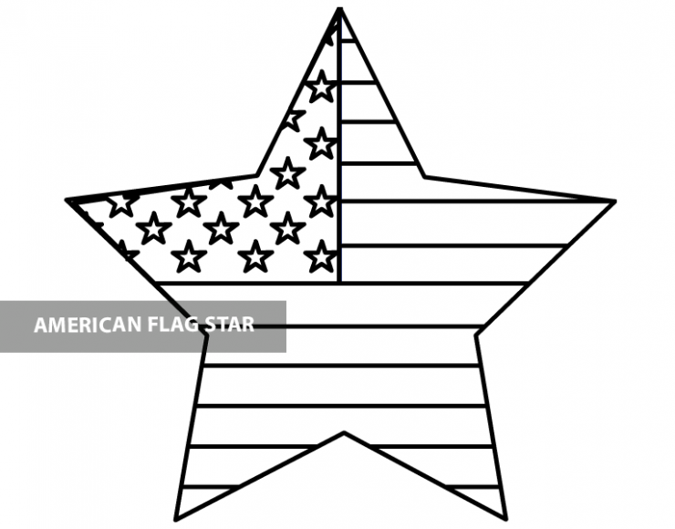 - American Flag Star Template Pdf – Coloring Page
