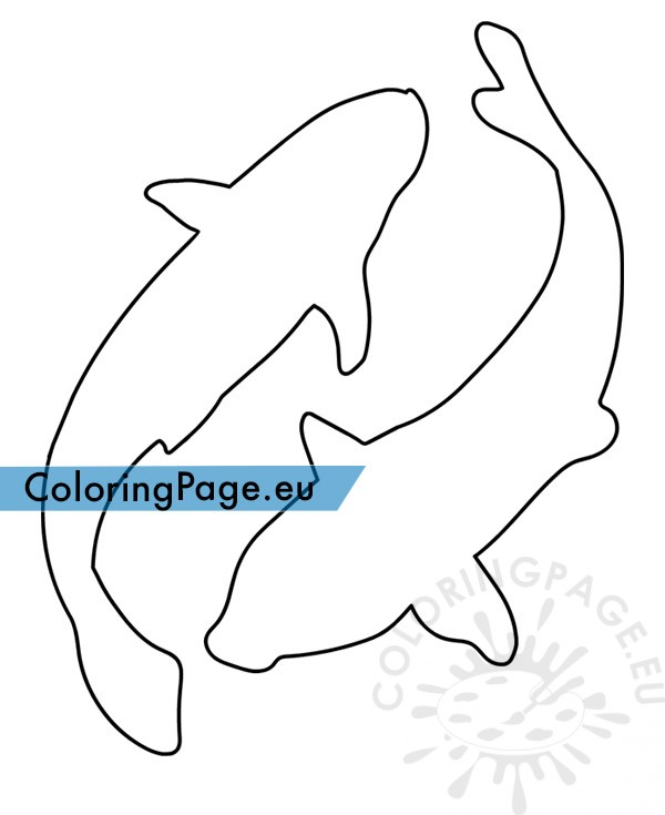 free Koi fish template