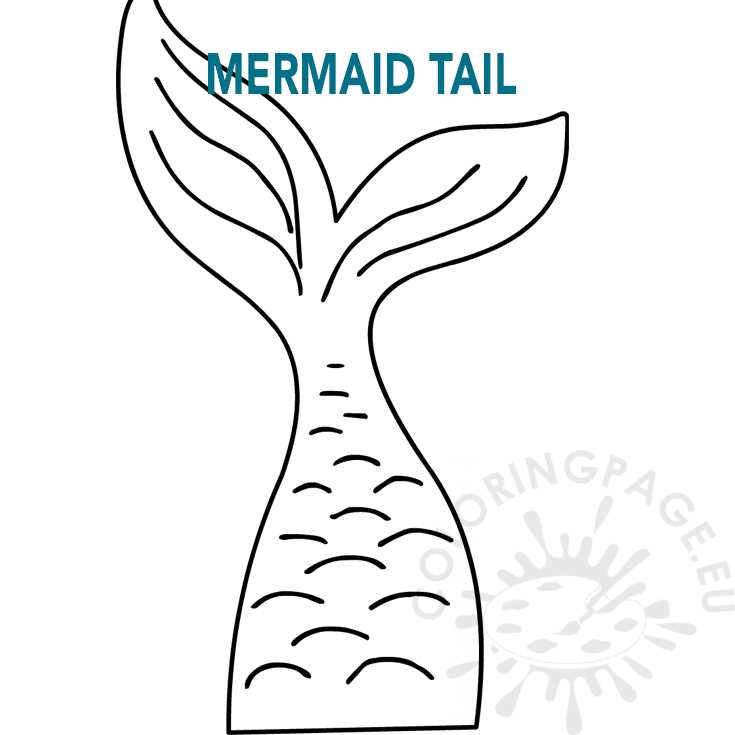 Mermaid tail template - Coloring Page