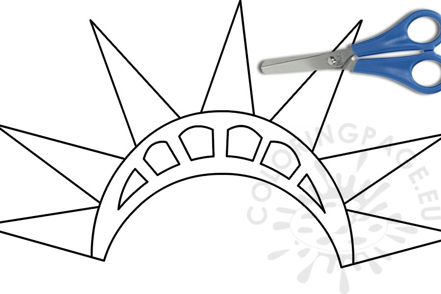Statue of Liberty crown template