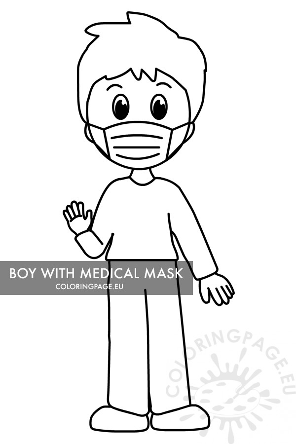 boy with medical mask