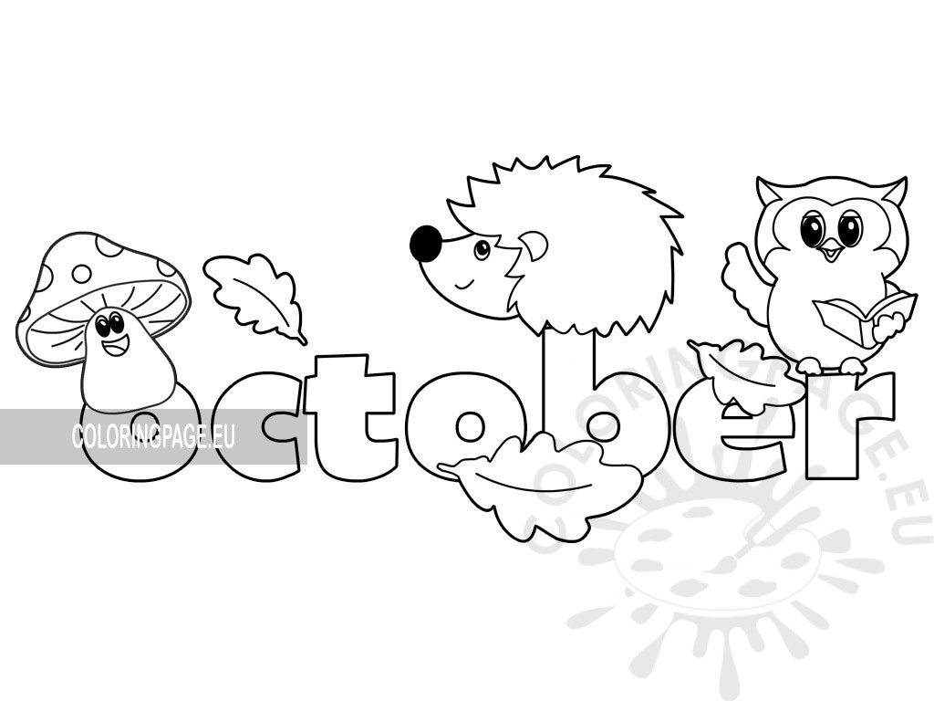 Autumn October Month pdf - Coloring Page